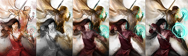 Abhorsen: the cover illustration process stage by stage