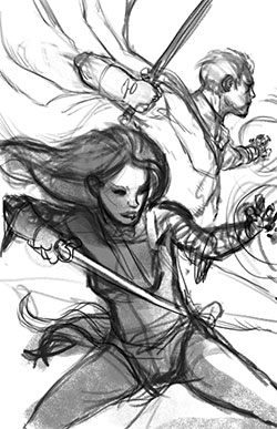 Second cover rough for Abhorsen